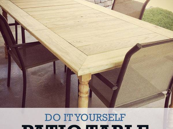 Diy Patio Table Fit Whole