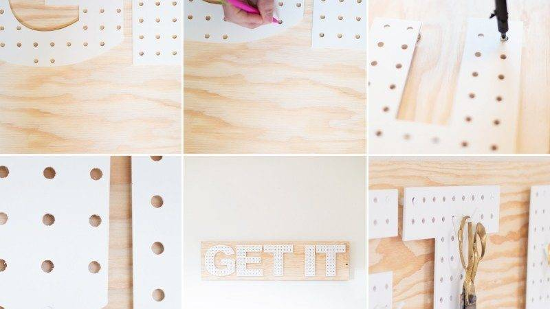 Diy Pegboard Words Lovely Indeed