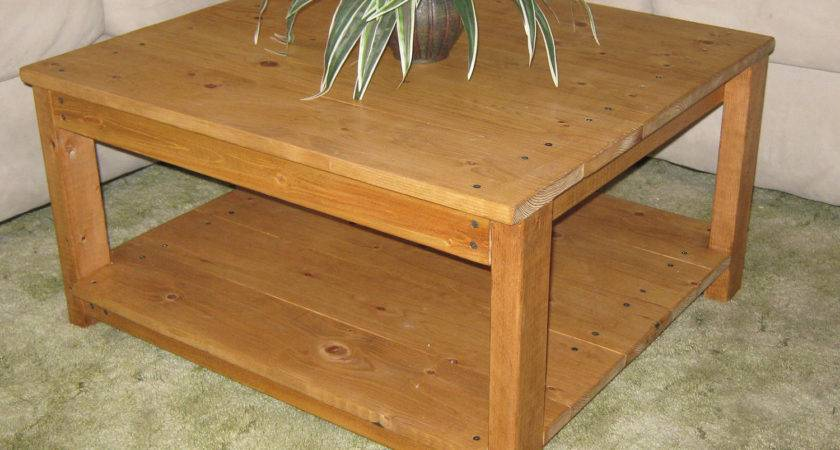 Diy Plans Make Square Wooden Coffee Table Wingstoshop