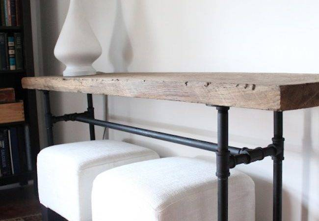 Diy Plumbing Pipe Console Table Bob Vila