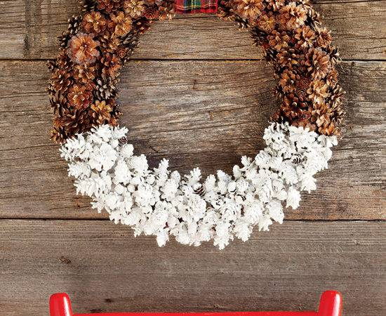 Diy Project Dipped Pine Cone Wreath Style Home