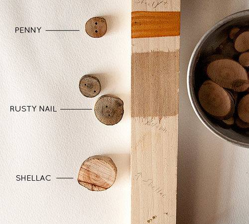 Diy Project Tree Branch Buttons Vinegar Wood Stains