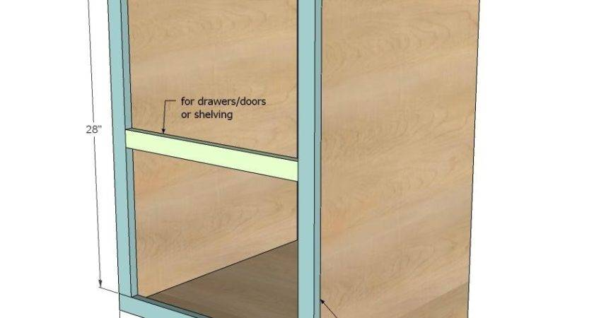Diy Projects Face Frame Base Kitchen Cabinet Carcass