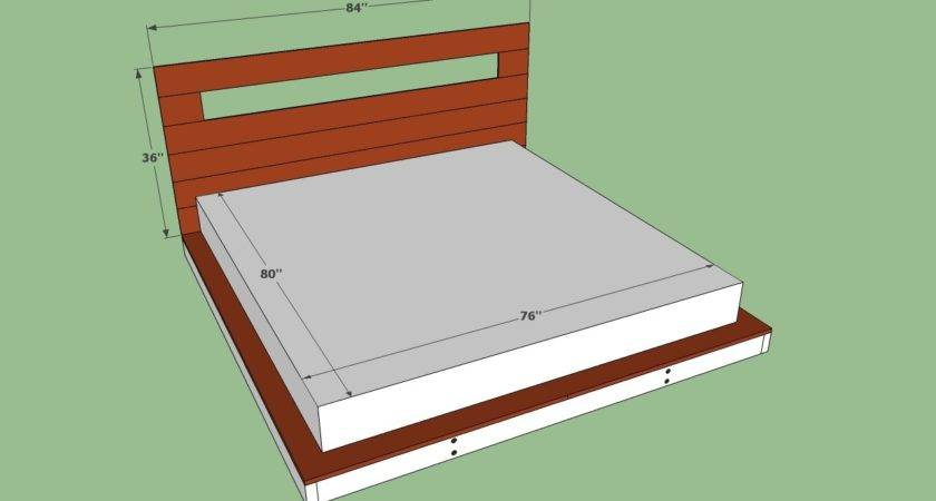 Diy Queen Platform Bed Plans Quick Woodworking Projects