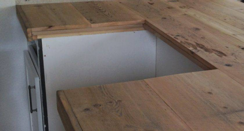 Diy Reclaimed Wood Countertop Averie Lane