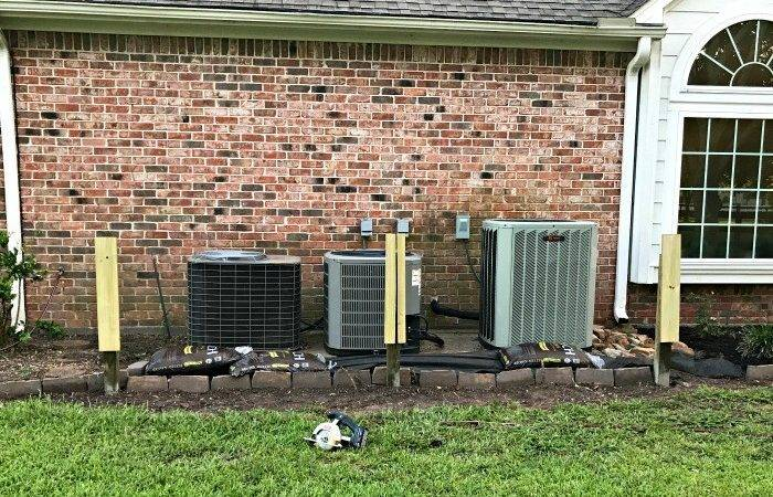 Diy Removable Outdoor Air Conditioner Screen Abbotts Home