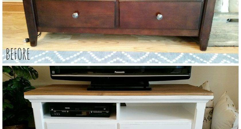 Diy Rustic Coffee Table Stand Makeover Signed
