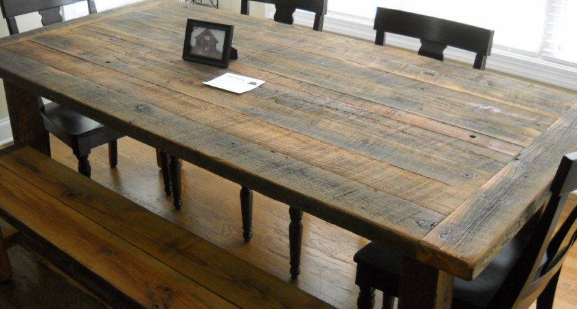 Diy Rustic Farmhouse Kitchen Table Made Reclaimed