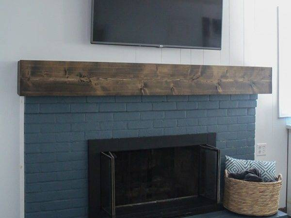 Diy Rustic Fireplace Mantel Cure Boring