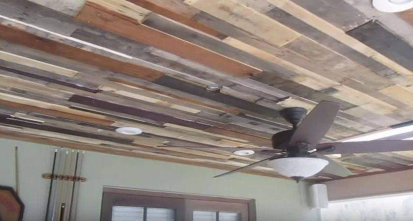 Diy Rustic Stunning Reclaimed Wood Ceiling Adds