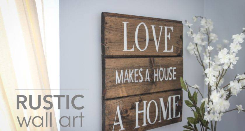 Diy Rustic Wall Art Youtube