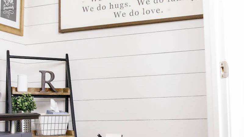 Diy Shiplap Tutorial House Rose Bloglovin