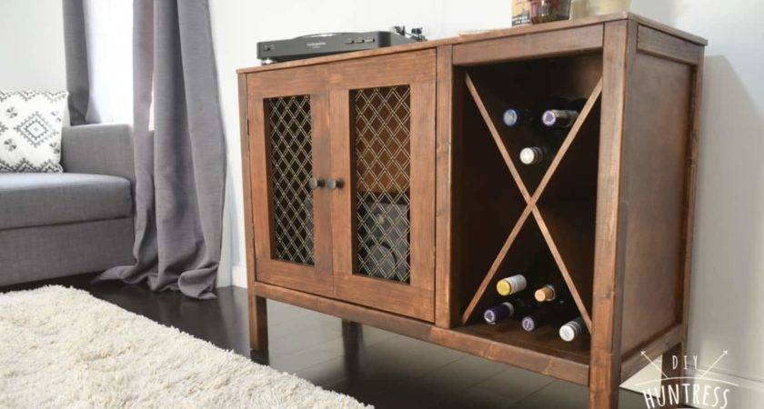 Diy Sideboard Record Cabinet Wine Storage Plans