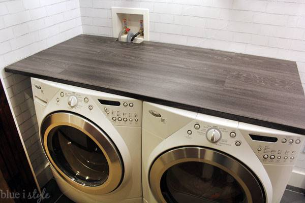 Diy Style Wood Plank Laundry Room Countertop