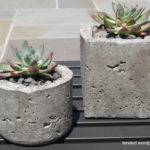 Diy Succulents Homemade Faux Bois Concrete Pots