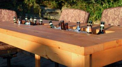 Diy Table Built Drink Coolers Perfect Way