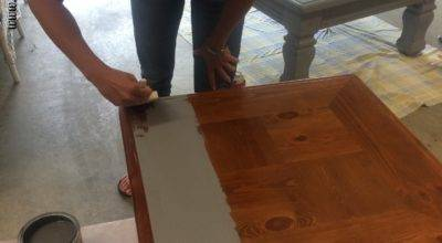 Diy Table Ottoman Paint Furniture Without