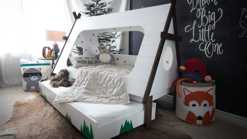Diy Toddler Bed Shape Tent Kids Teepee Trundle