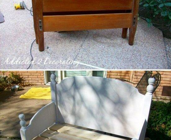 Diy Turning Headboard Footboard Into Bench Pinpoint