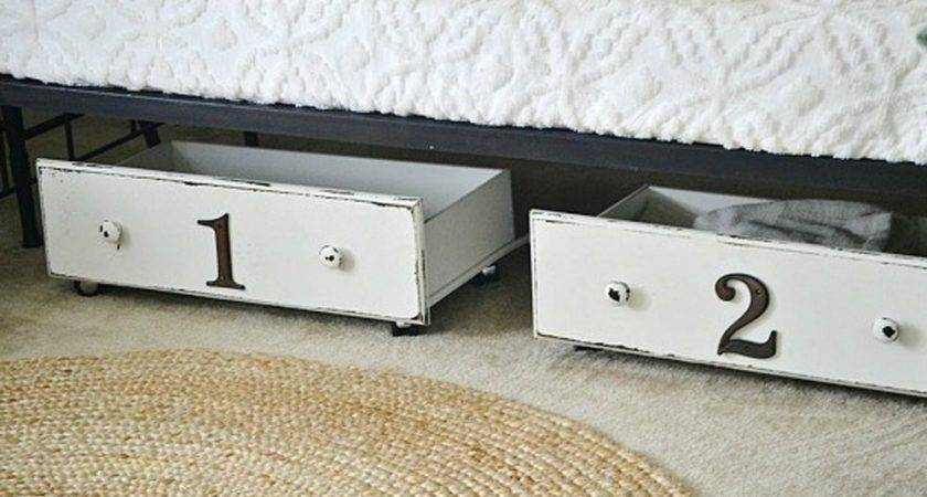 Diy Underbed Storage Bedroom Ideas Budget