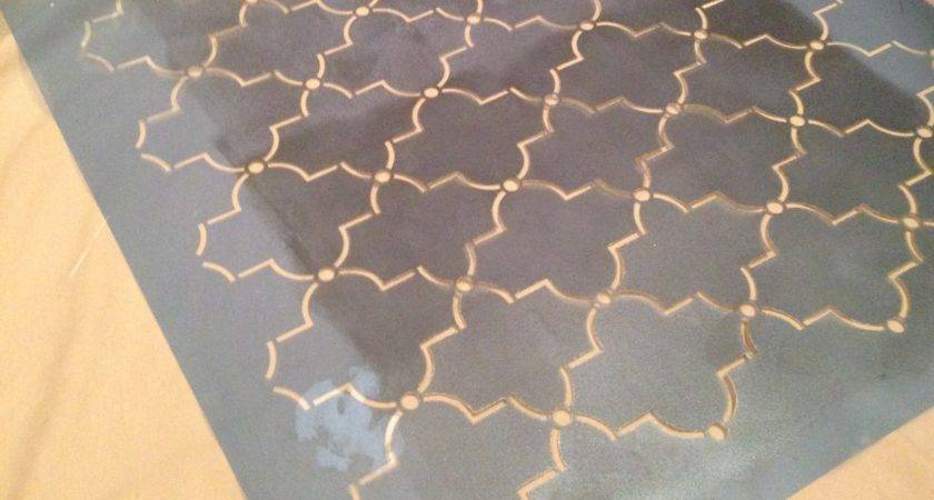 Diy White Gold Moroccan Stenciled Table Love