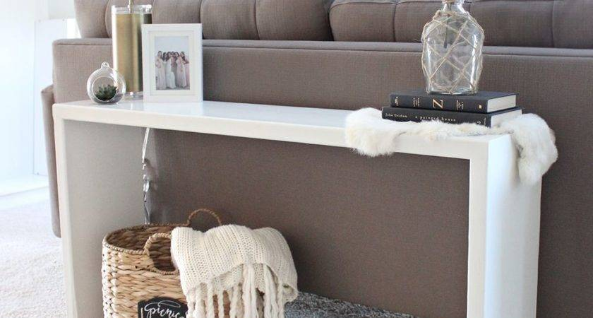 Diy Wood Console Table Pinterest Sofa