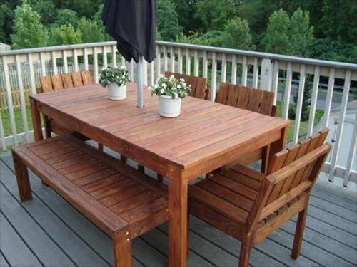 Diy Wooden Patio Furniture Plans Craft Projects