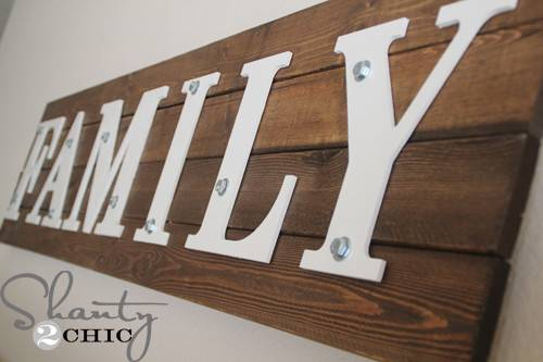 Diy Wooden Sign Shanty Chic