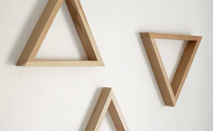 Diy Wooden Triangle Shelves Merrythought