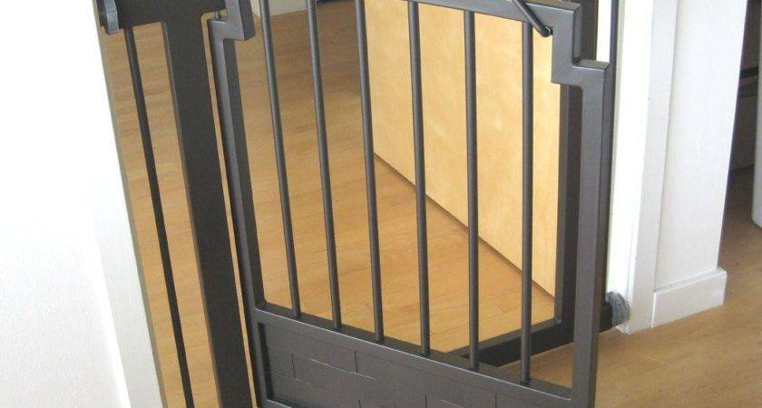 Dog Gate Adjustable Freestanding Wood Wire Expandable