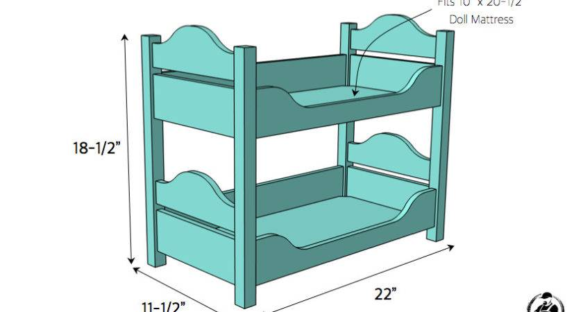 Doll Bunk Beds Large Girl Bed Plans