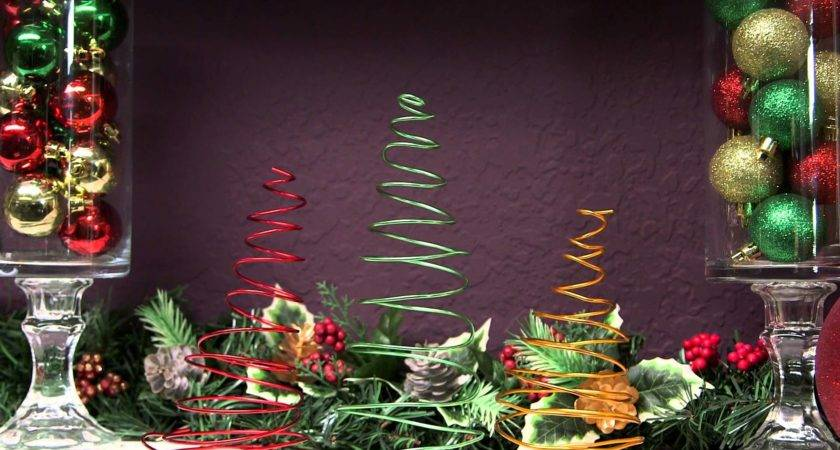 Dollar Tree Christmas Craft Idea Floral Wire Youtube
