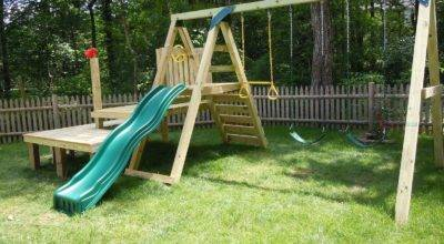 Dollops Diane Building Your Own Swing Set