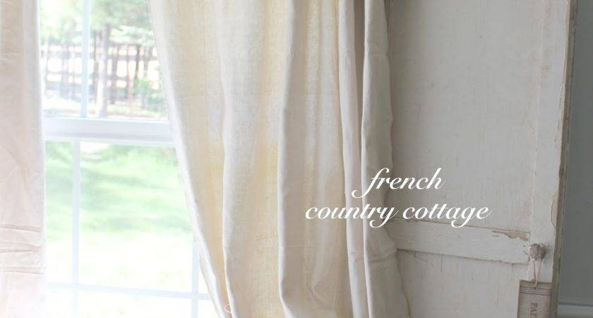 Double Ruffle Drop Cloth Panels French Country Cottage