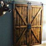 Double Sliding Barn Door Hardware Kit Track Doors