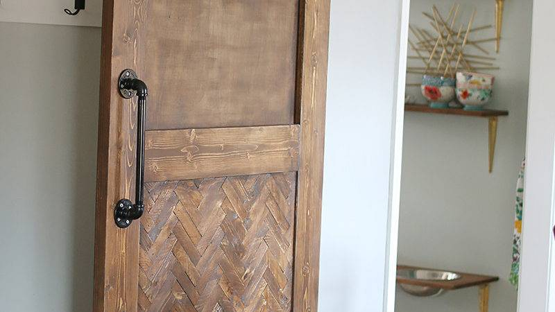 Dude Built Herringbone Barn Door Bower Power