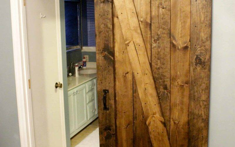 Easiest Cheapest Way Build Rustic Barn Door