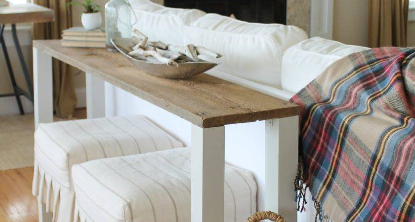 Easiest Diy Reclaimed Wood Sofa Table City Farmhouse