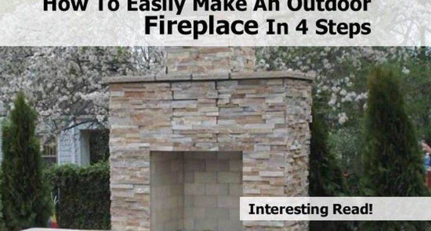 Easily Make Outdoor Fireplace Steps