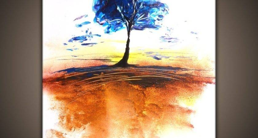 Easy Abstract Tree Painting Wallmaya