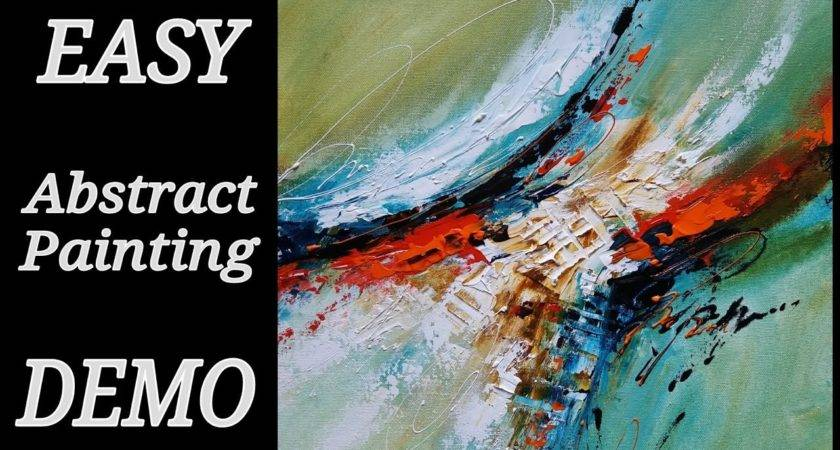 Easy Acrylic Abstract Painting Demo Paint