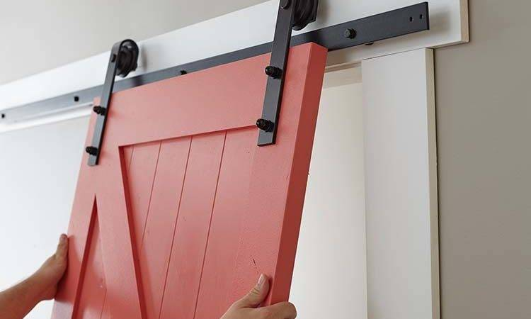 Easy Barn Door Paint Install Home Depot Blog