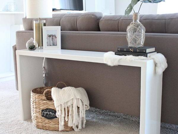Easy Diy Console Table Sofa Ideas Hative