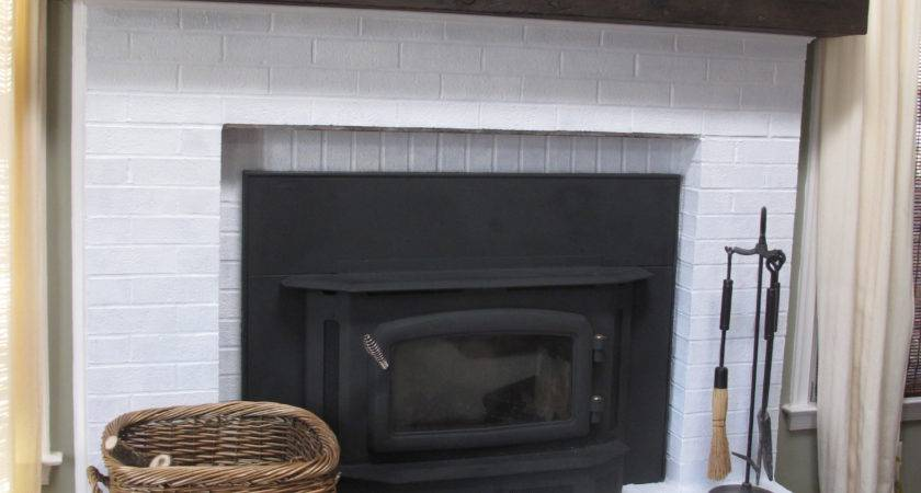 Easy Faux Railroad Tie Mantel Scavenger Chic