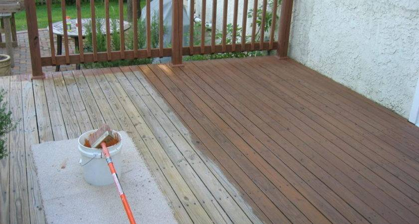 Easy Guide Staining Your Deck Accurate Home