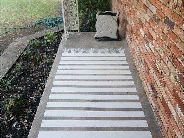 Easy Painted Concrete Rug Hometalk
