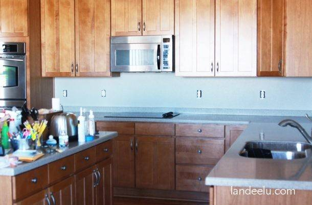 Easy Vinyl Backsplash Kitchen Landeelu