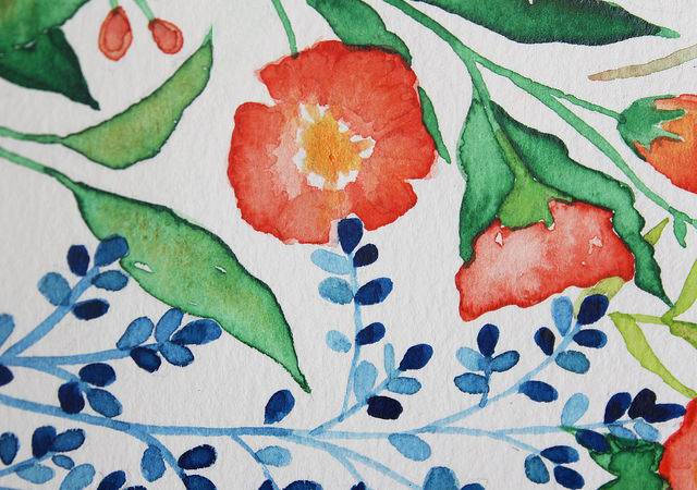 Easy Watercolor Flower Tutorial