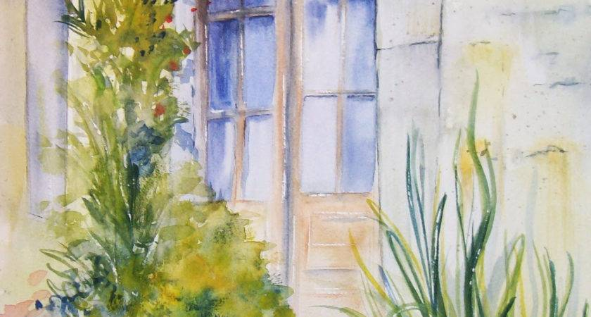 Easy Watercolor Paintings Spring Landscapes Great Drawing