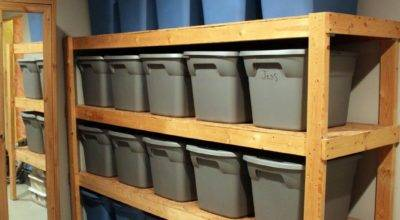 Easy Way Build Inexpensive Basement Storage Shelves